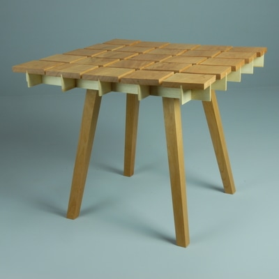 Block Table Top. Cherry And Ash.